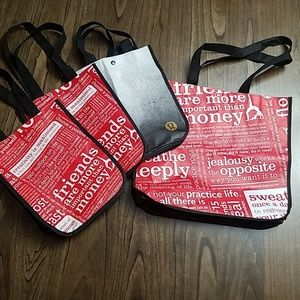 Lululemon Tote Shoping Bag Bundle of 4